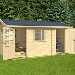 Greenway 4.5m x 3m Swinley Log Cabin