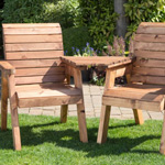 Redlands Twin Angled Companion Garden Set