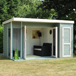 Avon 12' x 8' Cambridge Summer House With Side Shed