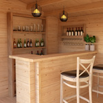 Log Cabin Home Bar