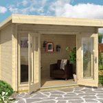 Greenway Pent Roof Log Cabins