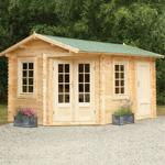 Hartwood 4m x 2.8m Left Sided Hunningham Log Cabin